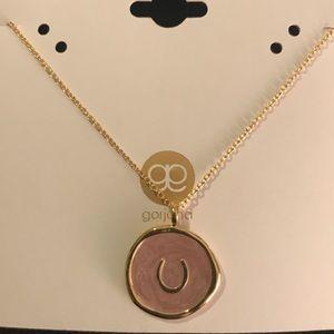 Gorjana Gold Horseshoe Charm Necklace - new